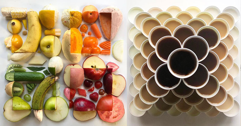 21 Delicious Geometric Food Gradients by Artist Adam Hillman