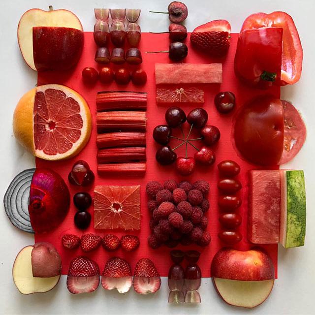 food art by adam hillman 18 21 Delicious Geometric Food Gradients by Artist Adam Hillman