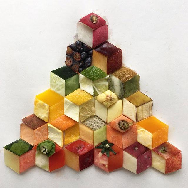 food art by adam hillman 3 21 Delicious Geometric Food Gradients by Artist Adam Hillman