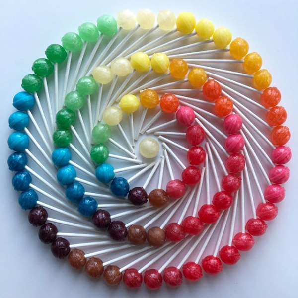 food art by adam hillman 8 21 Delicious Geometric Food Gradients by Artist Adam Hillman