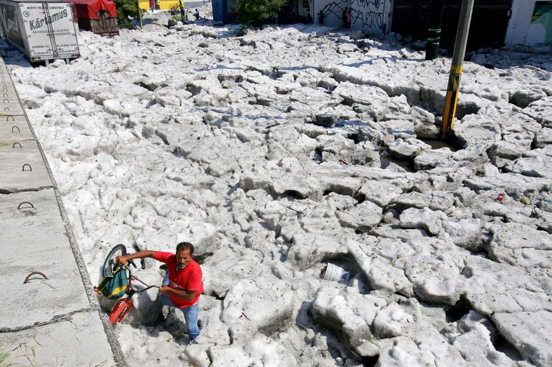 ice snow hail storm in mexico summer guadalajara 2019 10 There Was a Massive Ice Storm... In Mexico... In the Middle of the Summer