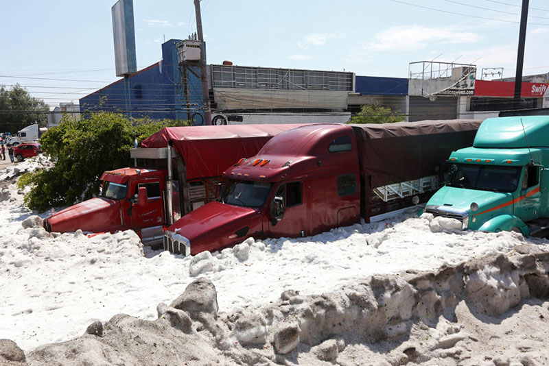 ice snow hail storm in mexico summer guadalajara 2019 11 There Was a Massive Ice Storm... In Mexico... In the Middle of the Summer
