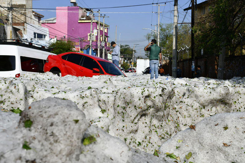 ice snow hail storm in mexico summer guadalajara 2019 3 There Was a Massive Ice Storm... In Mexico... In the Middle of the Summer