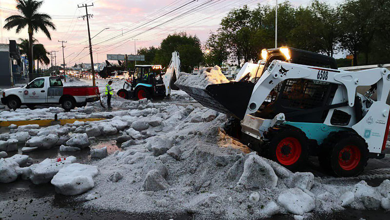 ice snow hail storm in mexico summer guadalajara 2019 6 There Was a Massive Ice Storm... In Mexico... In the Middle of the Summer