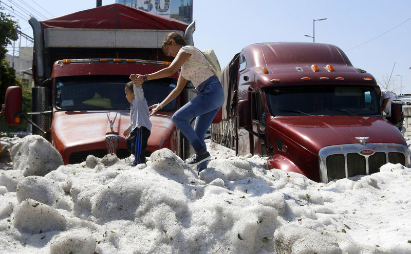 ice snow hail storm in mexico summer guadalajara 2019 8 There Was a Massive Ice Storm... In Mexico... In the Middle of the Summer