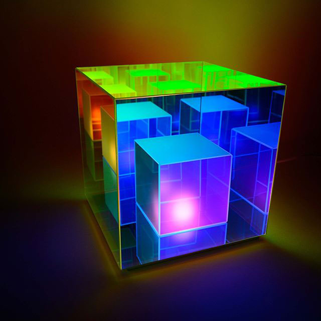 infinity cube lamps by sean augustine march 4 These Infinity Cube Lamps are Incredible (15 Photos)
