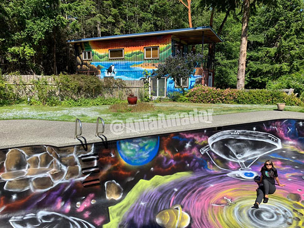 painted swimming pool by ania amador 3 Ania Amador Just Painted the Coolest Looking Swimming Pool Ever