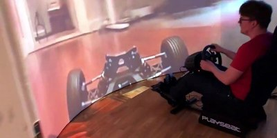 Driving an RC Car From Inside a Cylindrical Dome Projector