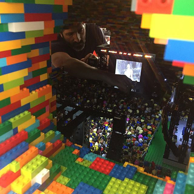 lego sculpture opens up into a mini music festival by dante dentoni 2 This Awesome Lego Sculpture Opens Up Into a Mini Music Festival