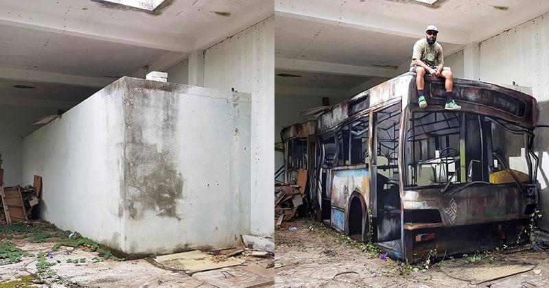 Street Artist Transforms Old Block Wall Into Something Far MoreCreative