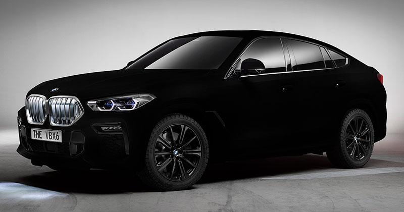 BMW Unveils One of a Kind X6 inVantablack