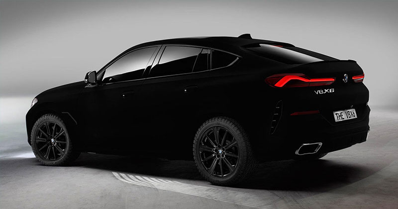 bmw x6 vantablack 14 BMW Unveils One of a Kind X6 in Vantablack