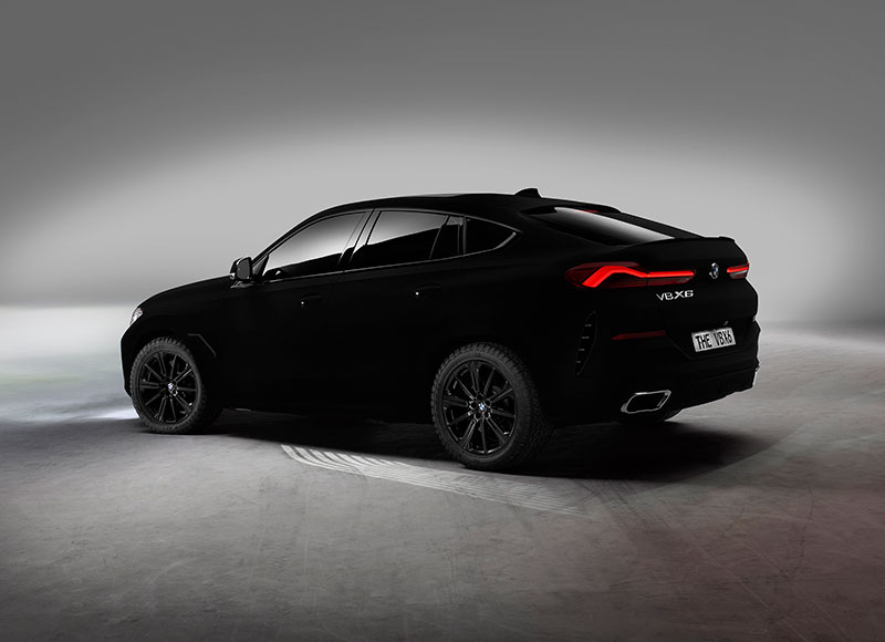 bmw x6 vantablack 2 BMW Unveils One of a Kind X6 in Vantablack