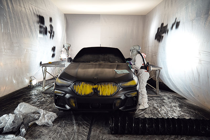 bmw x6 vantablack 9 BMW Unveils One of a Kind X6 in Vantablack