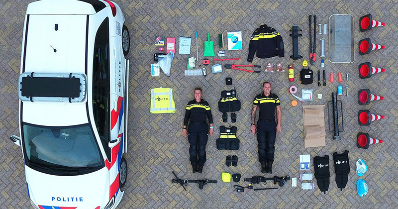 The Contents of a Dutch PoliceCar