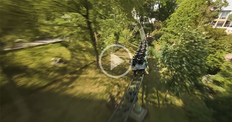 This Chase Footage of an FPV Drone Tracking a Roller Coaster isIncredible