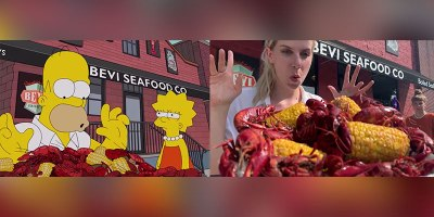 Two Swiss Girls Perfectly Recreate Homer Eating Through New Orleans