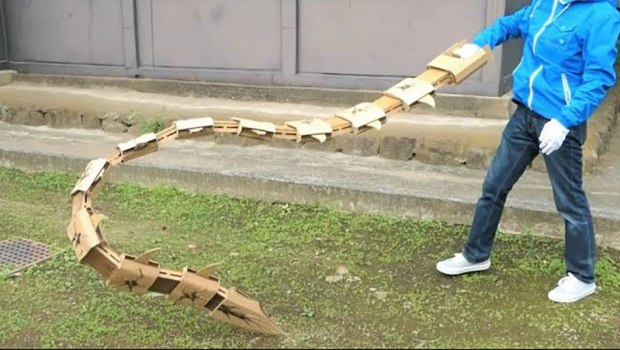 guy makes toy weapons from old amazon boxes 9 Guy Makes Oversized Novelty Weapons from Old Amazon Boxes
