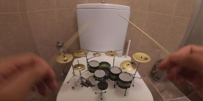 Slaying System of a Down's 'Toxicity' on a Miniature DrumKit
