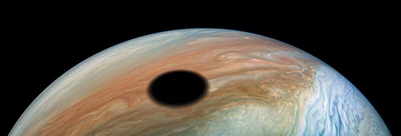 solar eclipse on jupiter 1 A Solar Eclipse on Jupiter