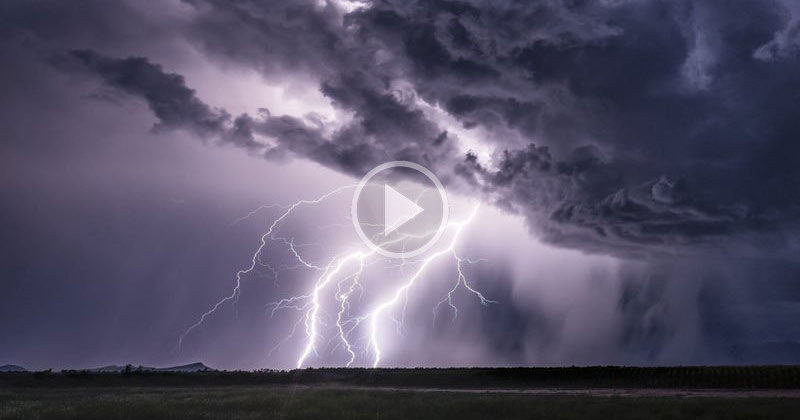 Storm Chaser Uses 4K Phantom to Capture Lightning Like You've Never Seen