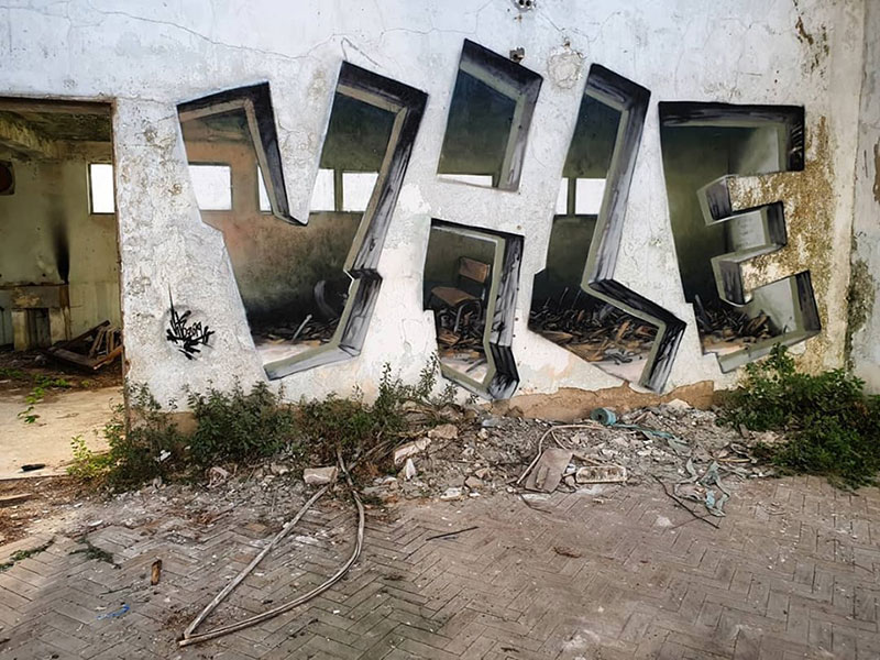 street artist vile fools viewers into believing he cut actual walls out 6 Surreal Street Artworks That Looks Like the Walls Were Chiselled Out