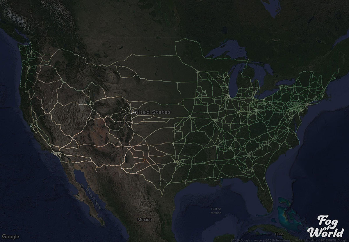 truck driver map reddit 2 A Truck Driver Recorded His Travels Since 2012 and Mapped the Results