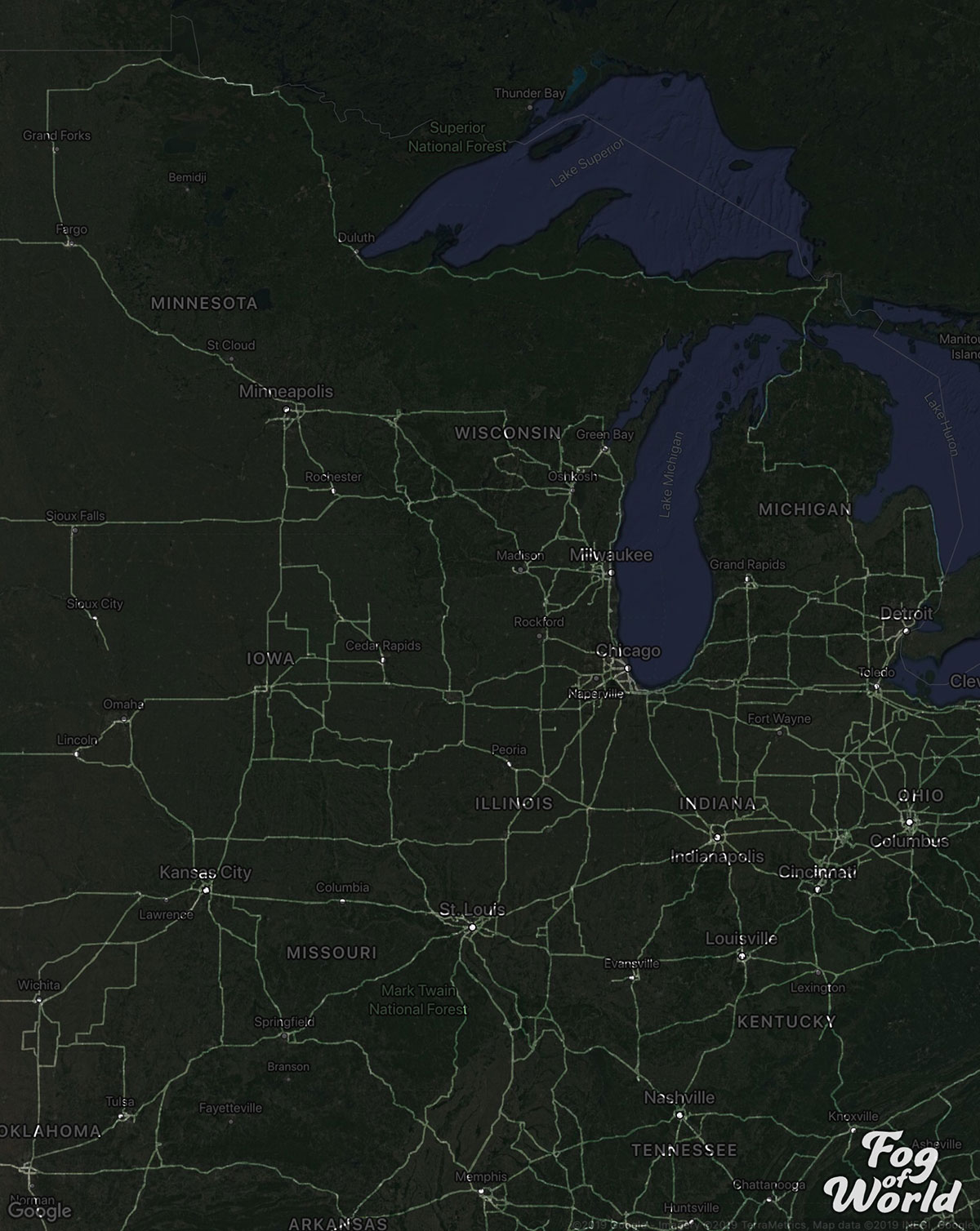 truck driver map reddit 4 A Truck Driver Recorded His Travels Since 2012 and Mapped the Results