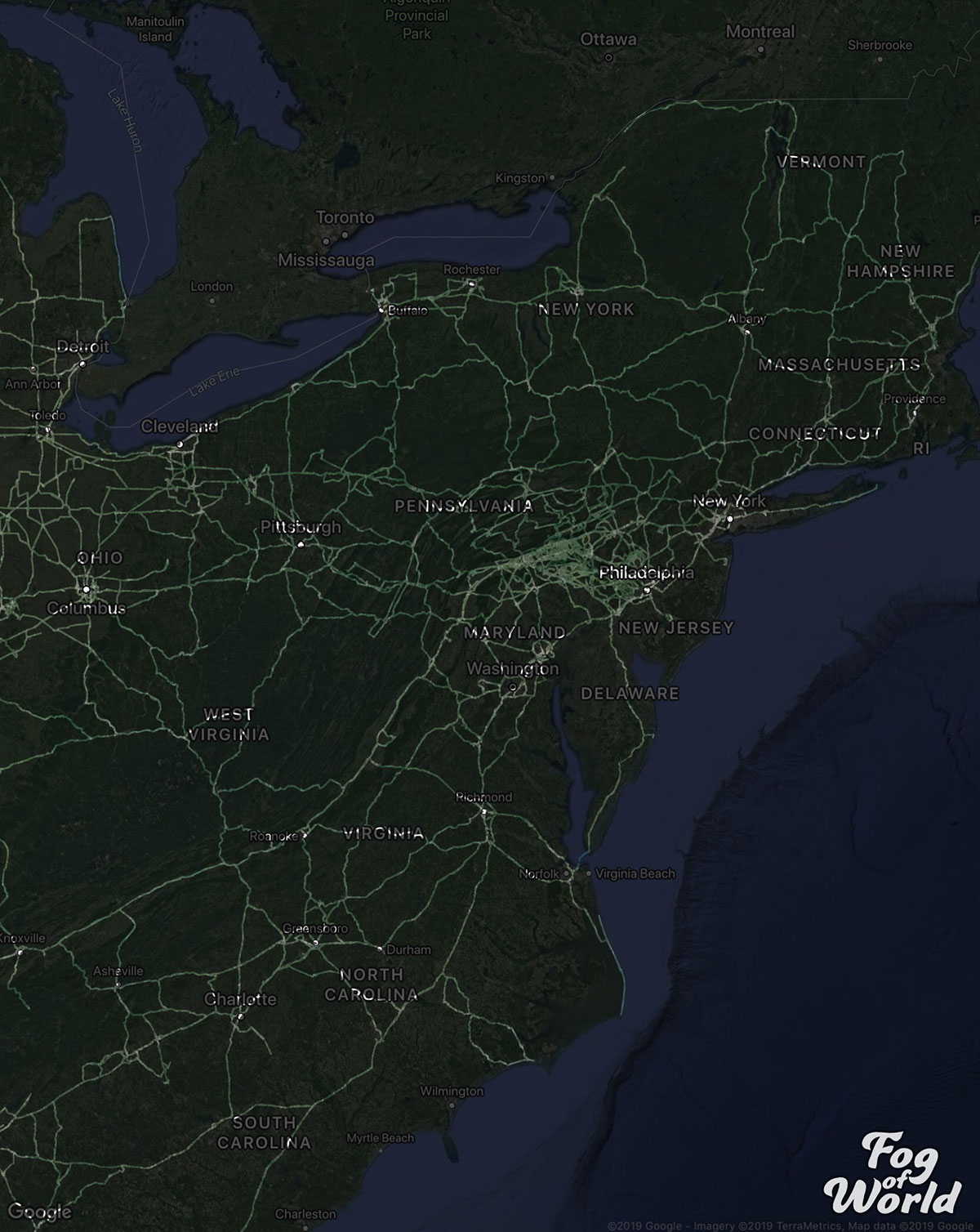 truck driver map reddit 6 A Truck Driver Recorded His Travels Since 2012 and Mapped the Results