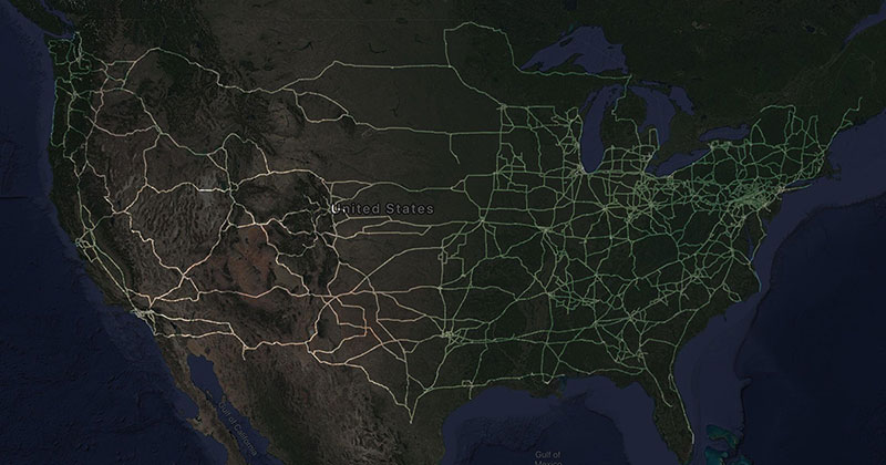 A Truck Driver Recorded His Travels Since 2012 and Mapped the Results
