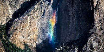 At the Right Place and Time You Can See the Magical Yosemite 'Rainbowfall'