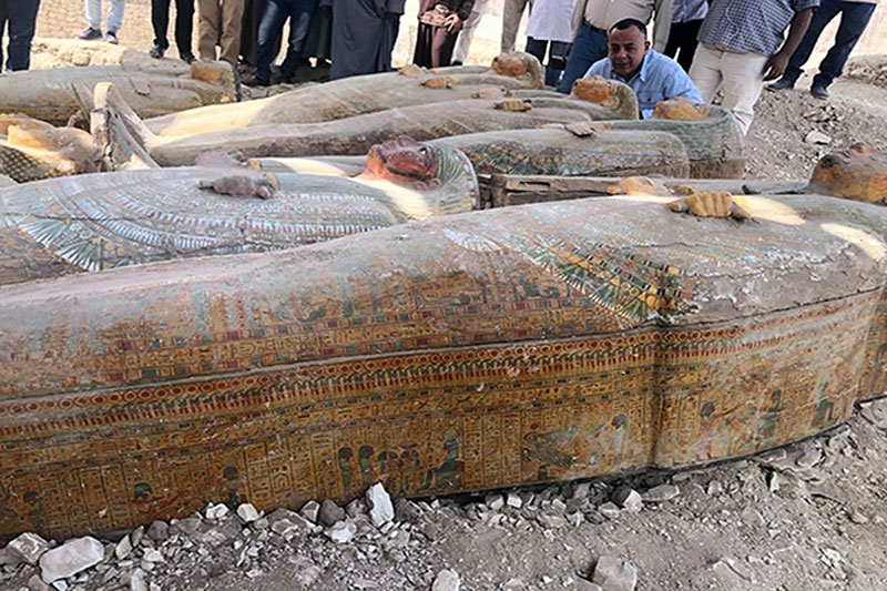 ancient coffins found in egypt 1 30 Ancient Coffins from 3,000 Years Ago Discovered in Luxor, Egypt