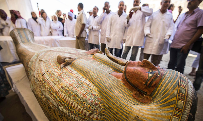 ancient coffins found in egypt 2 30 Ancient Coffins from 3,000 Years Ago Discovered in Luxor, Egypt