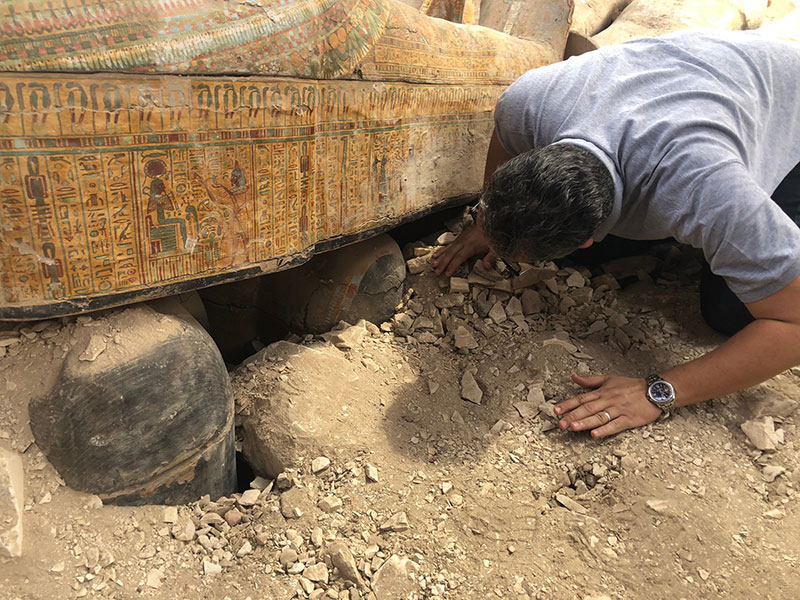 ancient coffins found in egypt 3 30 Ancient Coffins from 3,000 Years Ago Discovered in Luxor, Egypt