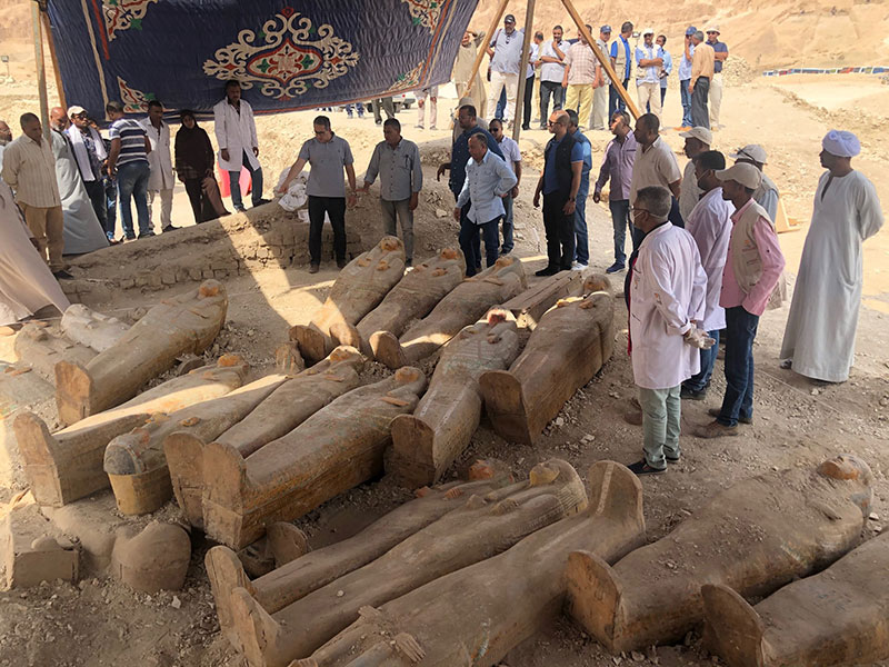 ancient coffins found in egypt 4 30 Ancient Coffins from 3,000 Years Ago Discovered in Luxor, Egypt