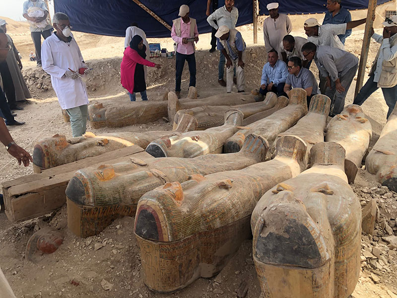ancient coffins found in egypt 5 30 Ancient Coffins from 3,000 Years Ago Discovered in Luxor, Egypt