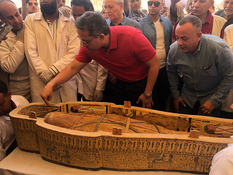 ancient coffins found in egypt 7 30 Ancient Coffins from 3,000 Years Ago Discovered in Luxor, Egypt