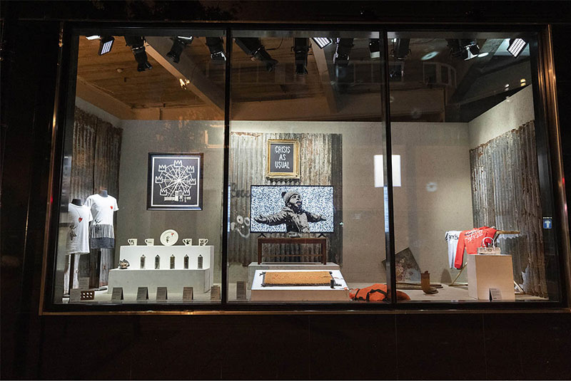 banksy homewares store gross domestic product 12 Banksy Just Opened a Pop Up Homewares Store Called Gross Domestic Product
