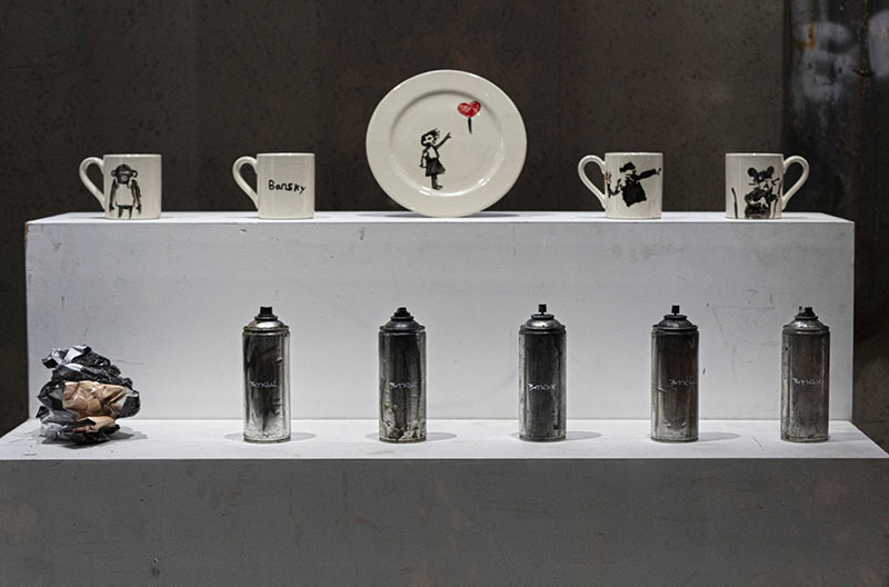 banksy homewares store gross domestic product 20 Banksy Just Opened a Pop Up Homewares Store Called Gross Domestic Product