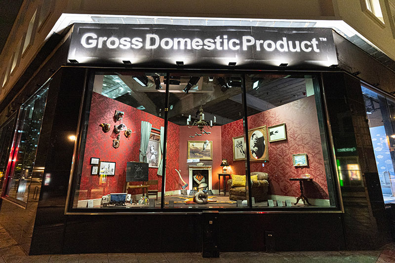 banksy homewares store gross domestic product 24 Banksy Just Opened a Pop Up Homewares Store Called Gross Domestic Product