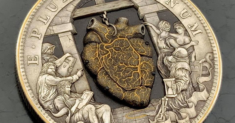 This Beating Heart Coin Carved by Roman Booteen is Absolutely Wild