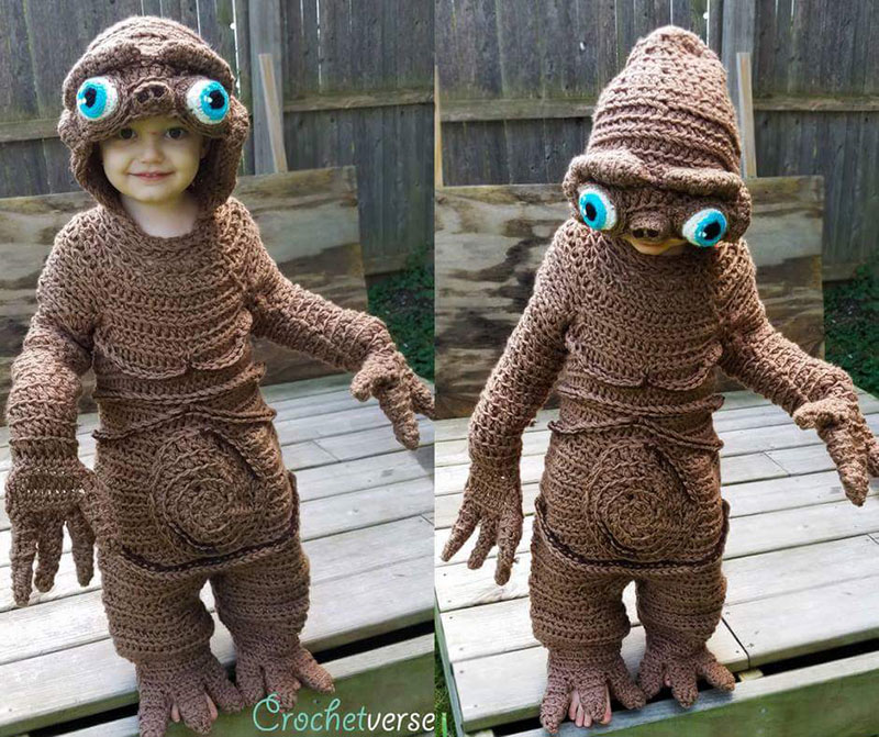 crochet halloween costume by stephanie pokorny crochetverse 11 Every Halloween This Mom Crochets the Coolest Costumes for Her Kids