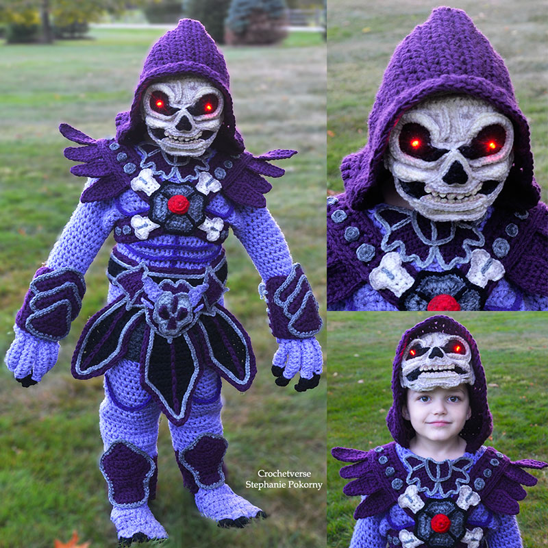 crochet halloween costume by stephanie pokorny crochetverse 14 Every Halloween This Mom Crochets the Coolest Costumes for Her Kids