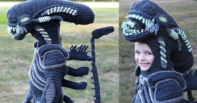 Every Halloween This Mom Crochets the Coolest Costumes for Her Kids