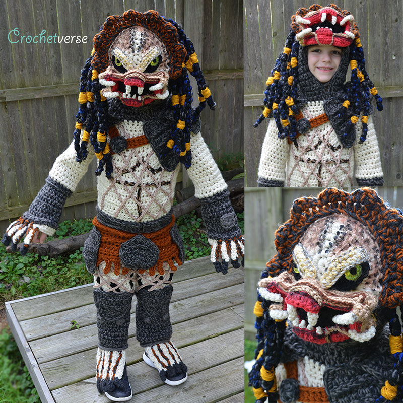 crochet halloween costume by stephanie pokorny crochetverse 6 Every Halloween This Mom Crochets the Coolest Costumes for Her Kids