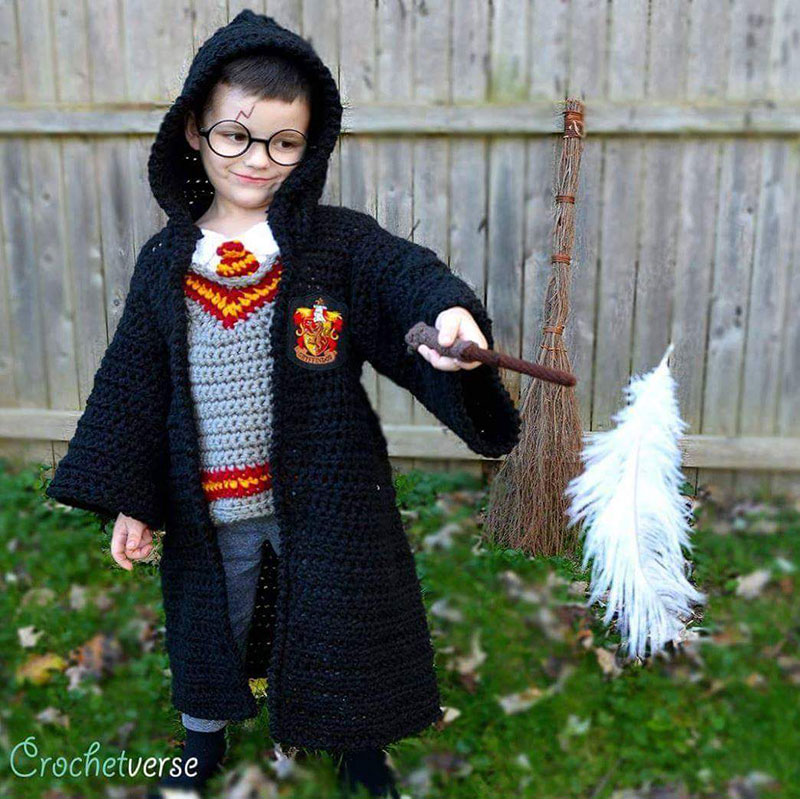 crochet halloween costume by stephanie pokorny crochetverse 7 Every Halloween This Mom Crochets the Coolest Costumes for Her Kids