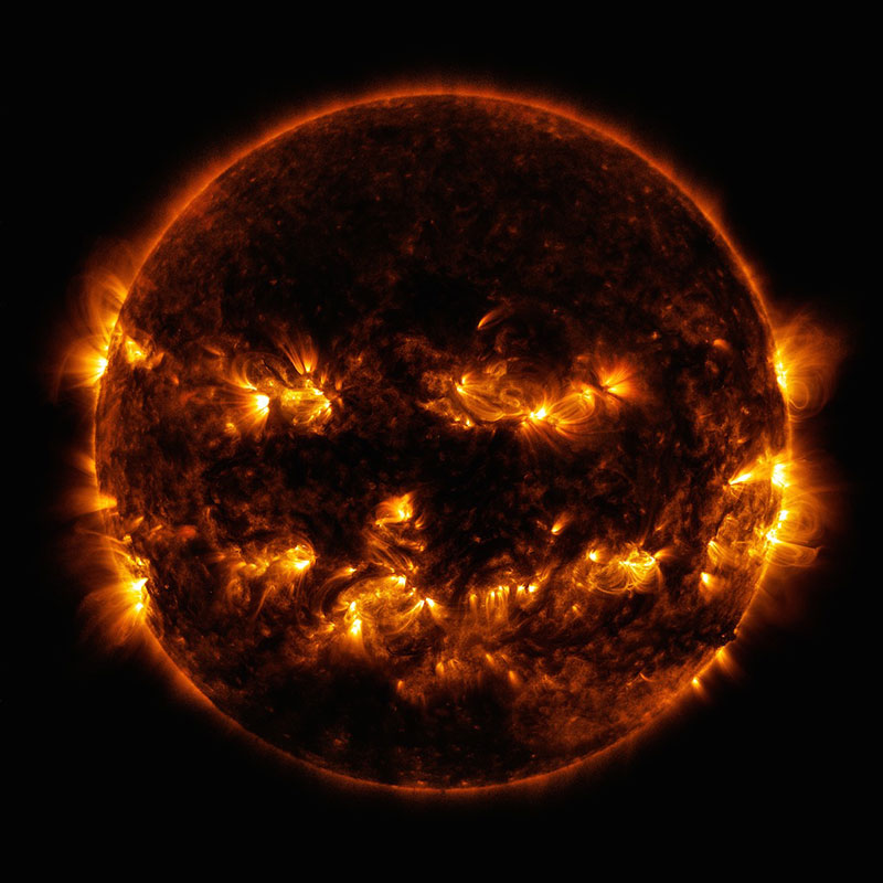 halloween sun jack o lantern nasa NASA Wishes Happy Halloween With Cosmic Pumpkin Photo of the Sun