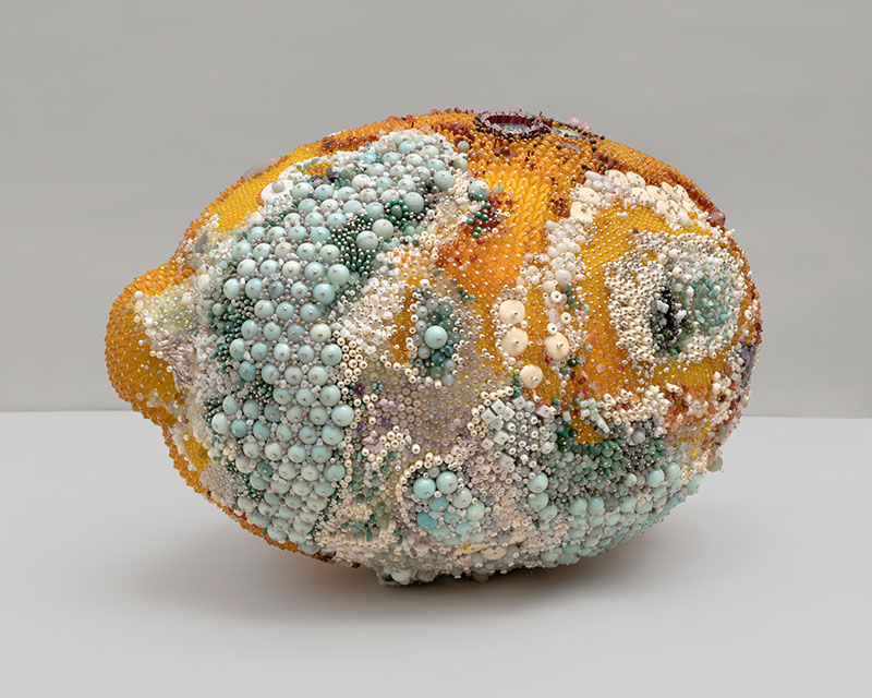 Decoration and Decay: Moldy Fruit Sculptures Formed From Gemstones