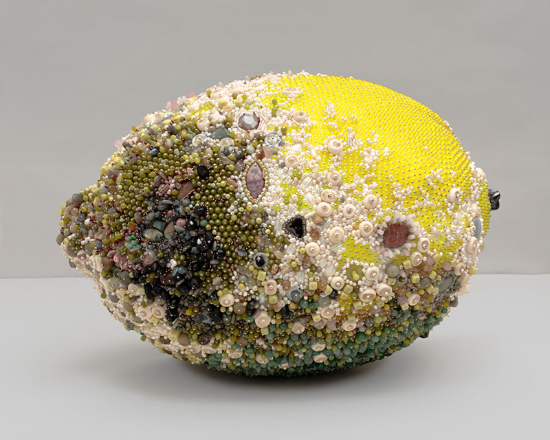 moldy fruit sculptures formed from gemstones by kathleen ryan 9 Decoration and Decay: Moldy Fruit Sculptures Formed From Gemstones