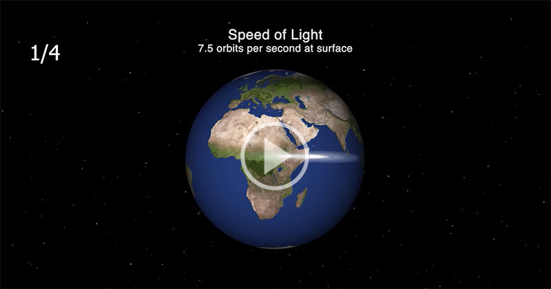 This Real-Time Visual Shows How 'Slow' Light Travels in the Vastness of Space